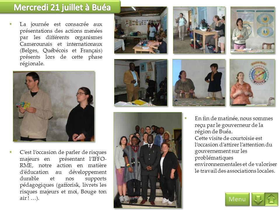 Mercredi 21 juillet à Buéa