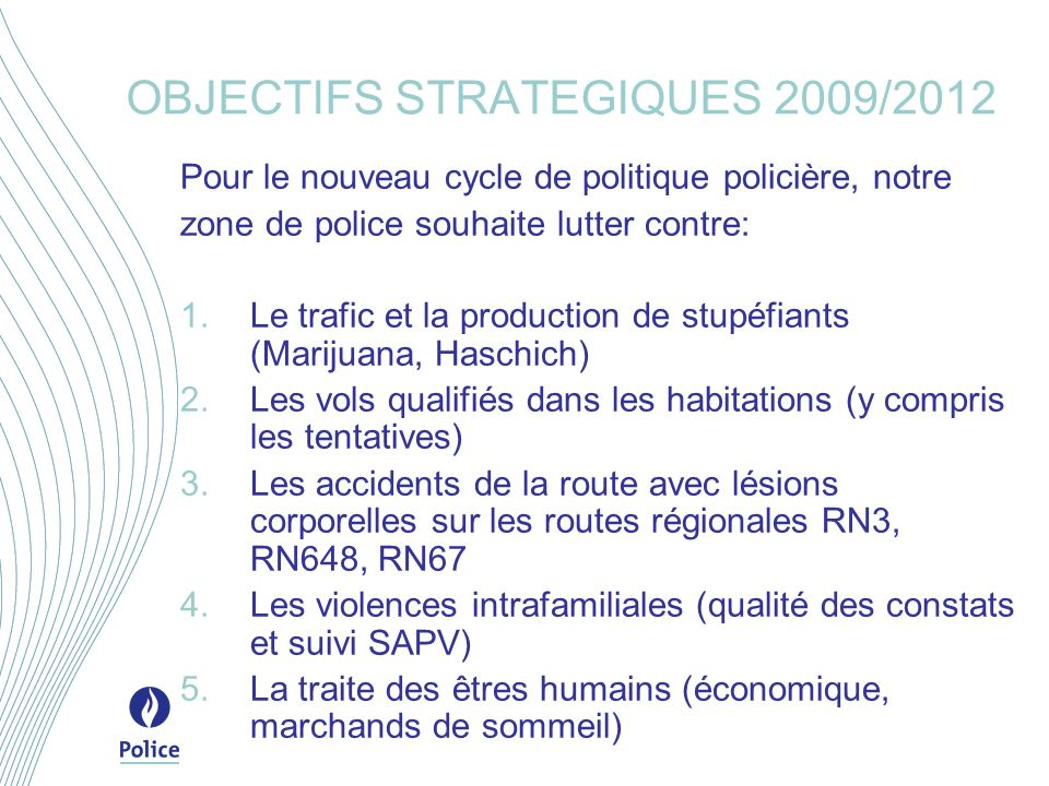 OBJECTIFS STRATEGIQUES 2009/2012