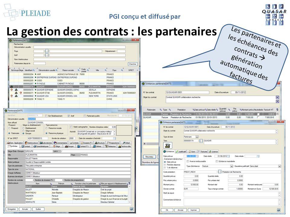 La gestion des contrats : les partenaires