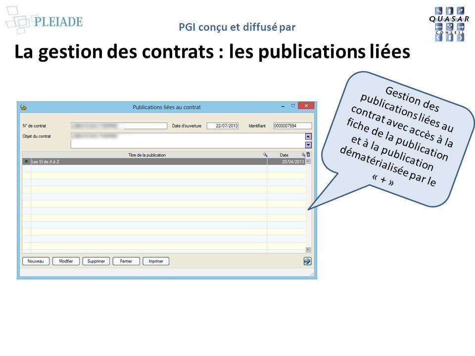La gestion des contrats : les publications liées