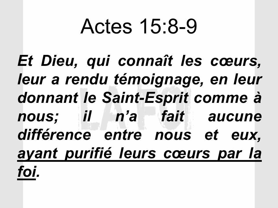 Actes 15:8-9