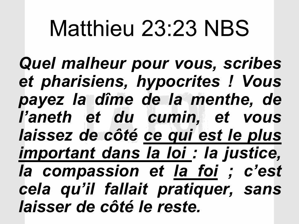 Matthieu 23:23 NBS