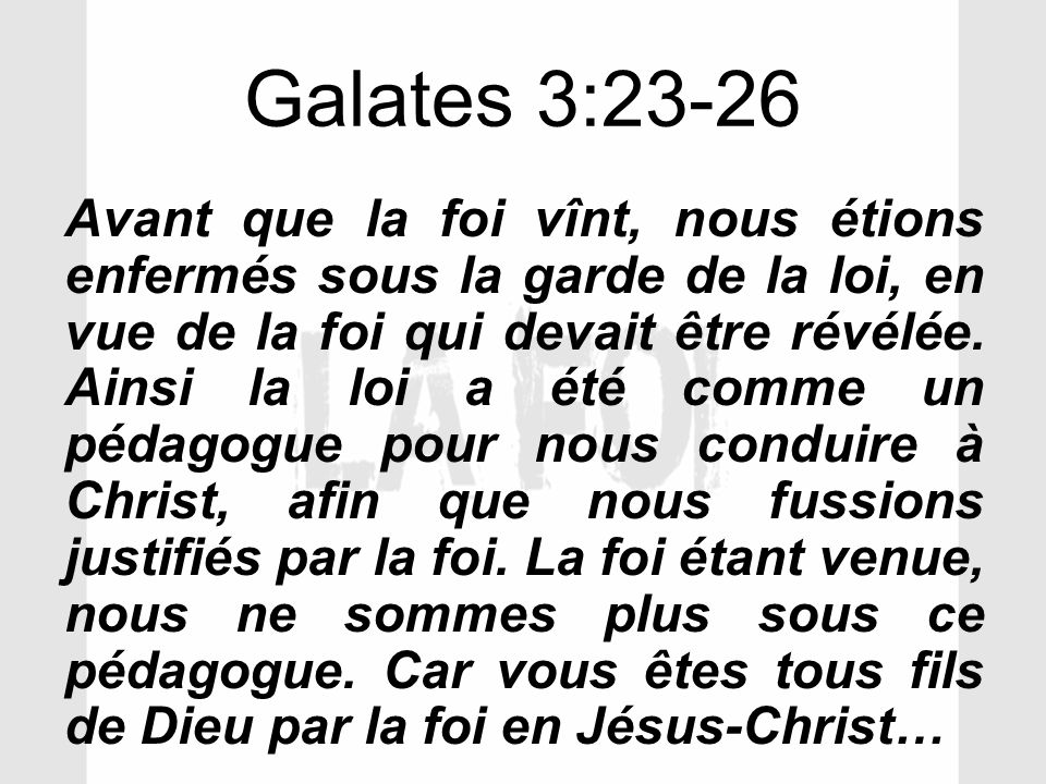 Galates 3:23-26