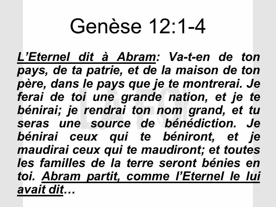 Genèse 12:1-4