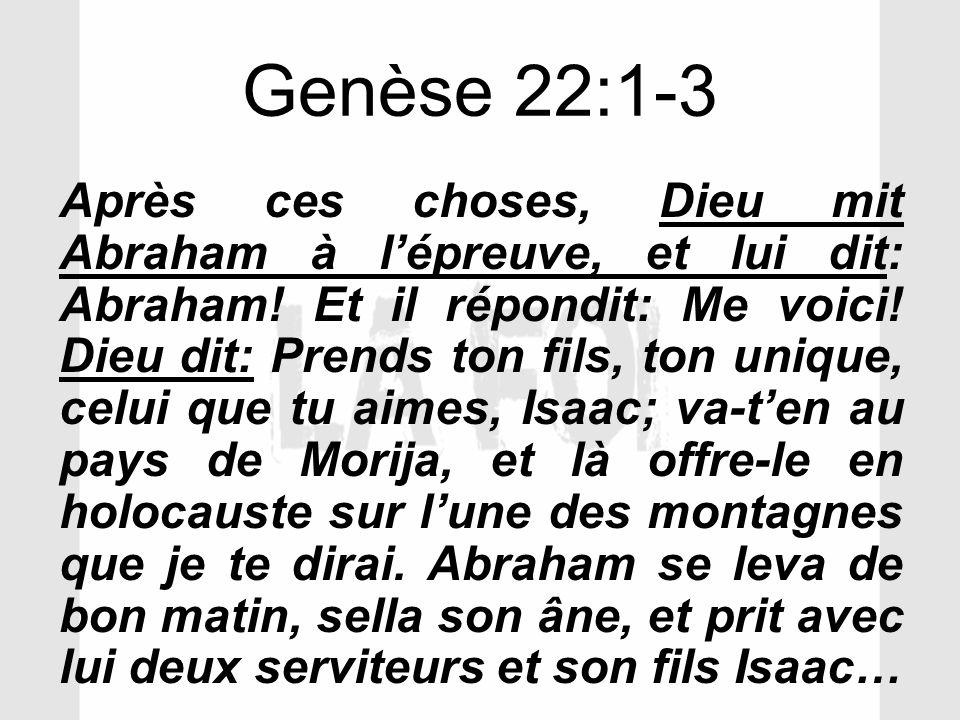 Genèse 22:1-3