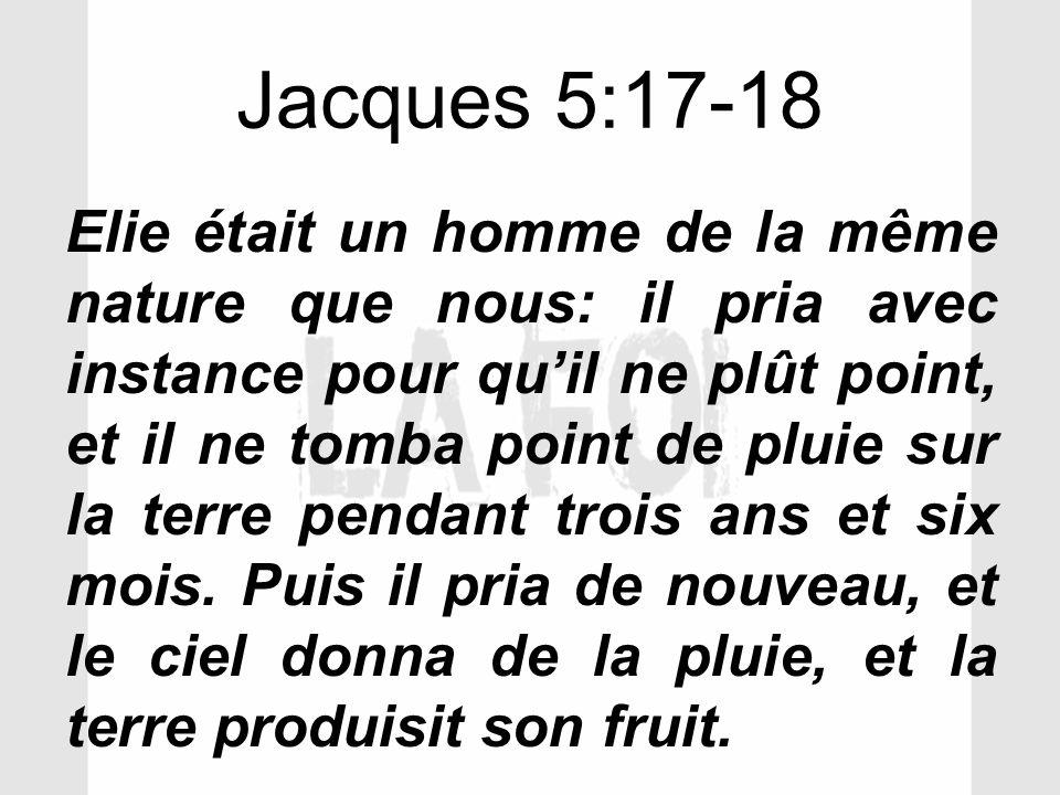 Jacques 5:17-18