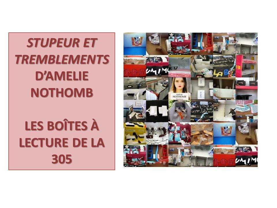 STUPEUR ET TREMBLEMENTS D'AMELIE NOTHOMB