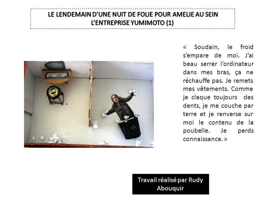 Stupeur et tremblements d amelie nothomb ppt video online t l charger - Je porte des couches au travail ...