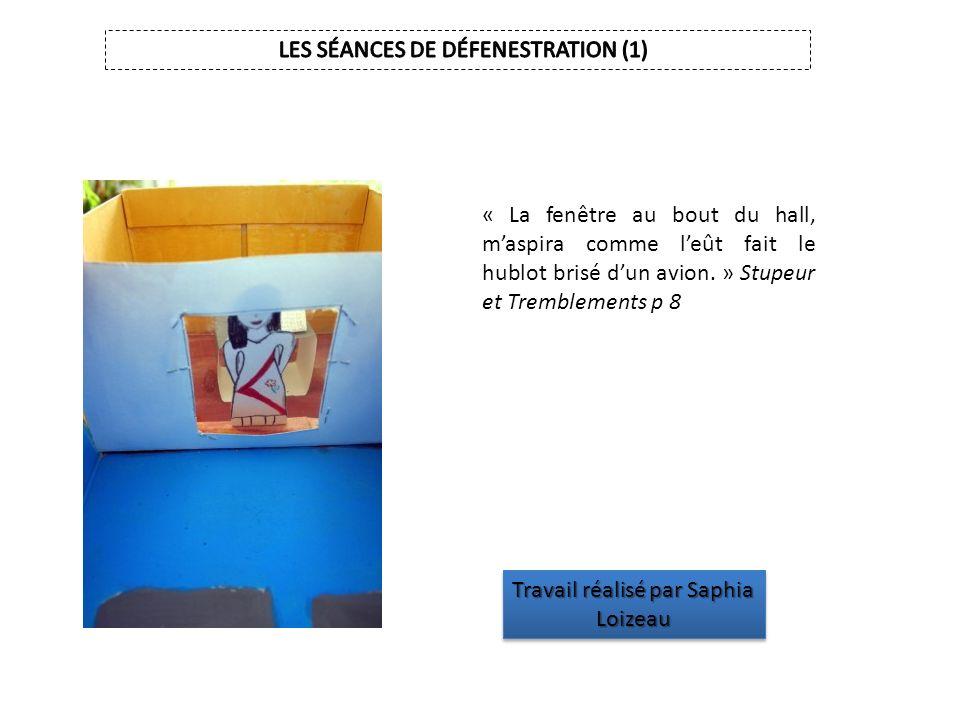 LES SÉANCES DE DÉFENESTRATION (1)