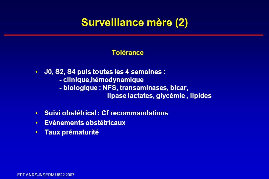 Surveillance mère (2) Tolérance