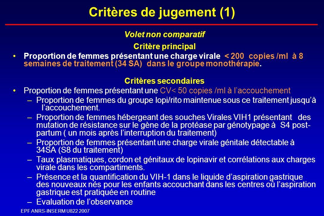 Critères de jugement (1)