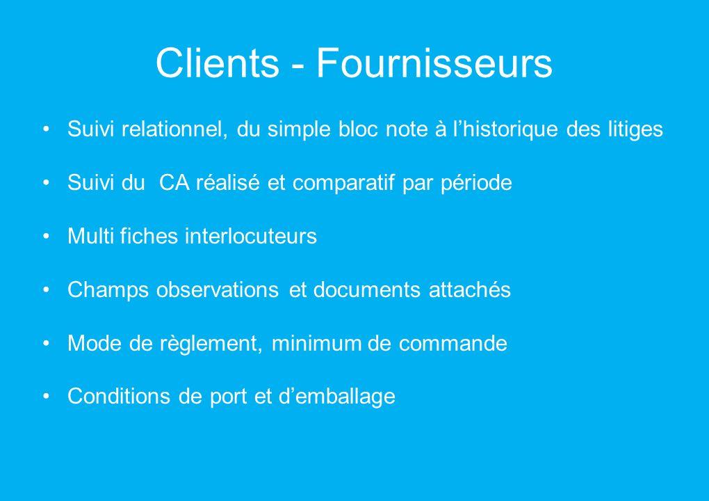 Clients - Fournisseurs