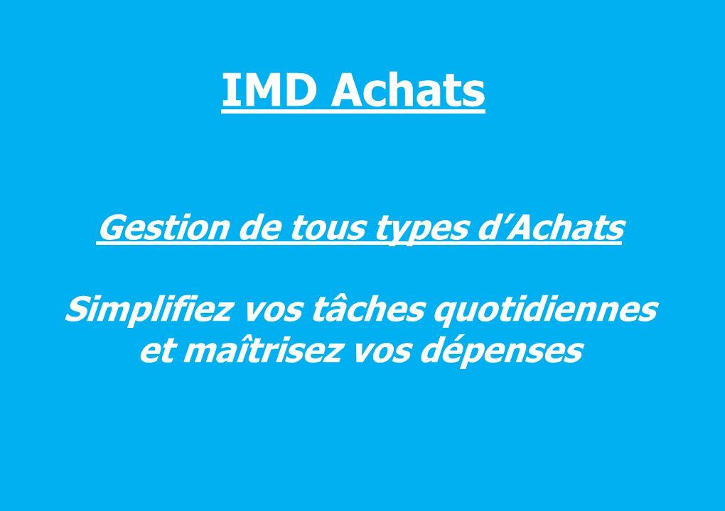 IMD Achats Gestion de tous types d'Achats