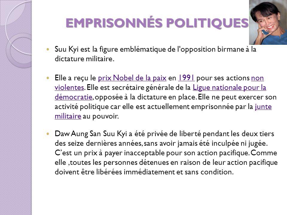 EMPRISONNÉS POLITIQUES