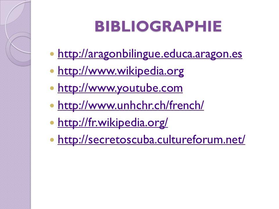 BIBLIOGRAPHIE http://aragonbilingue.educa.aragon.es