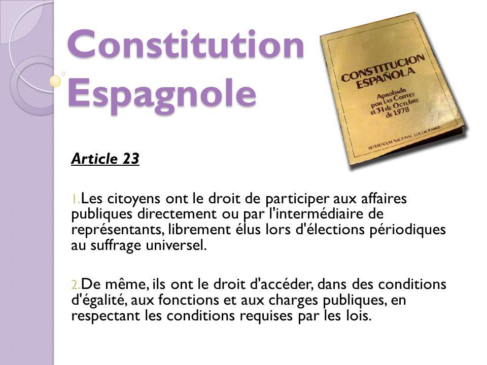 Constitution Espagnole