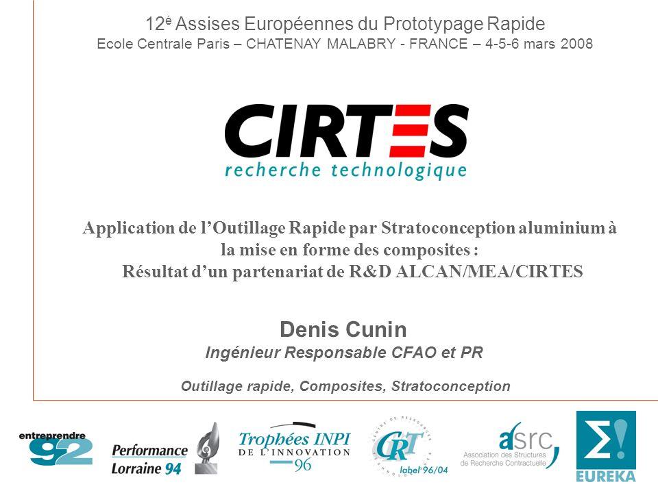 Denis Cunin 12è Assises Européennes du Prototypage Rapide