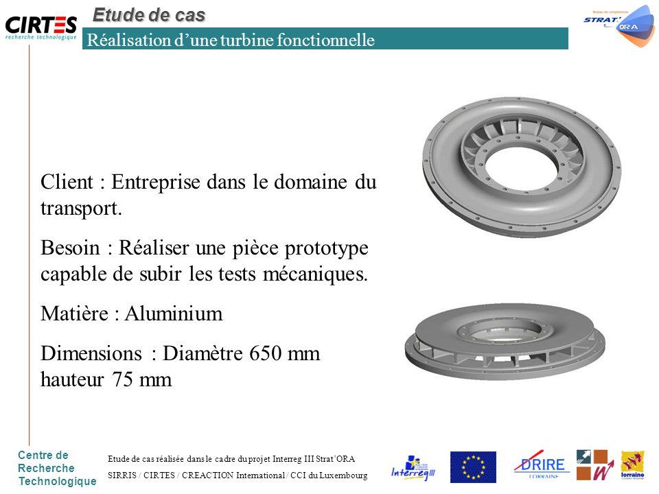 Réalisation d'une turbine fonctionnelle