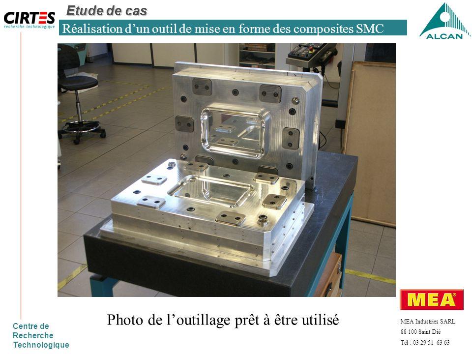 Réalisation d'un outil de mise en forme des composites SMC