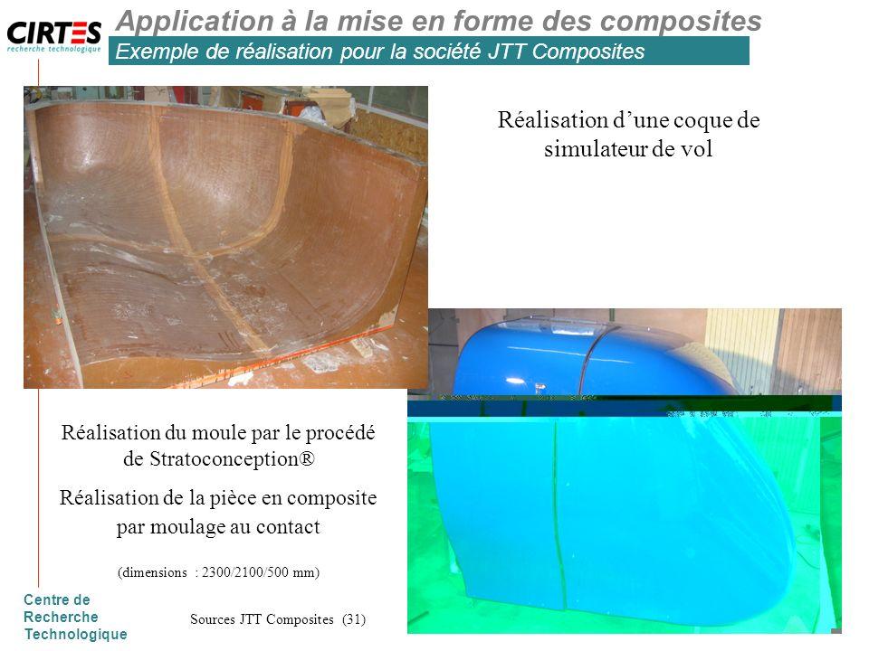 Application à la mise en forme des composites Exemple de réalisation pour la société JTT Composites