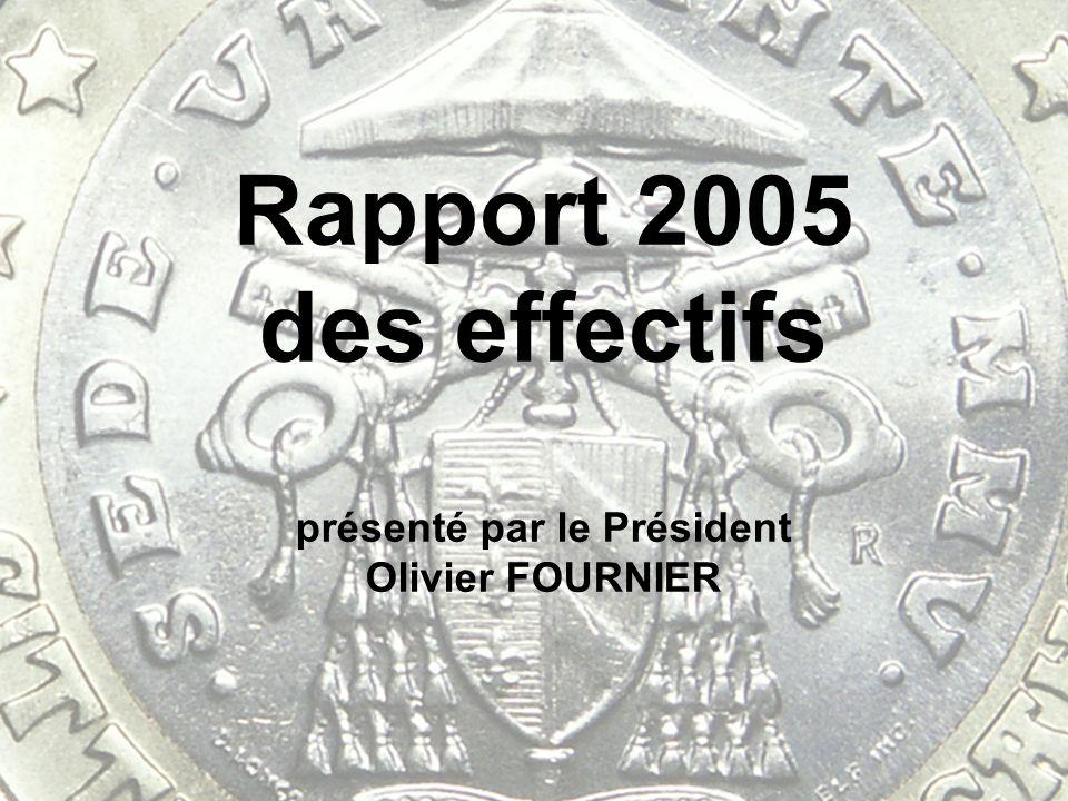 Rapport 2005 des effectifs présenté par le Président Olivier FOURNIER