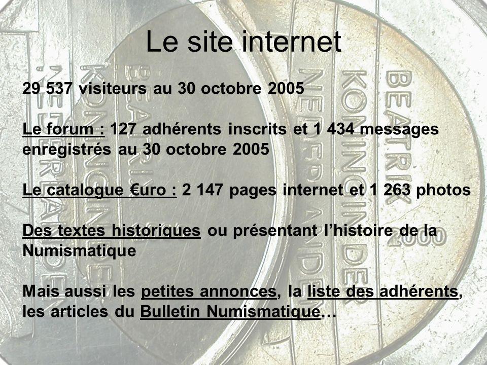 Le site internet 29 537 visiteurs au 30 octobre 2005