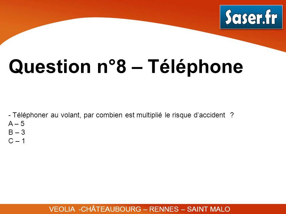 Question n°8 – Téléphone