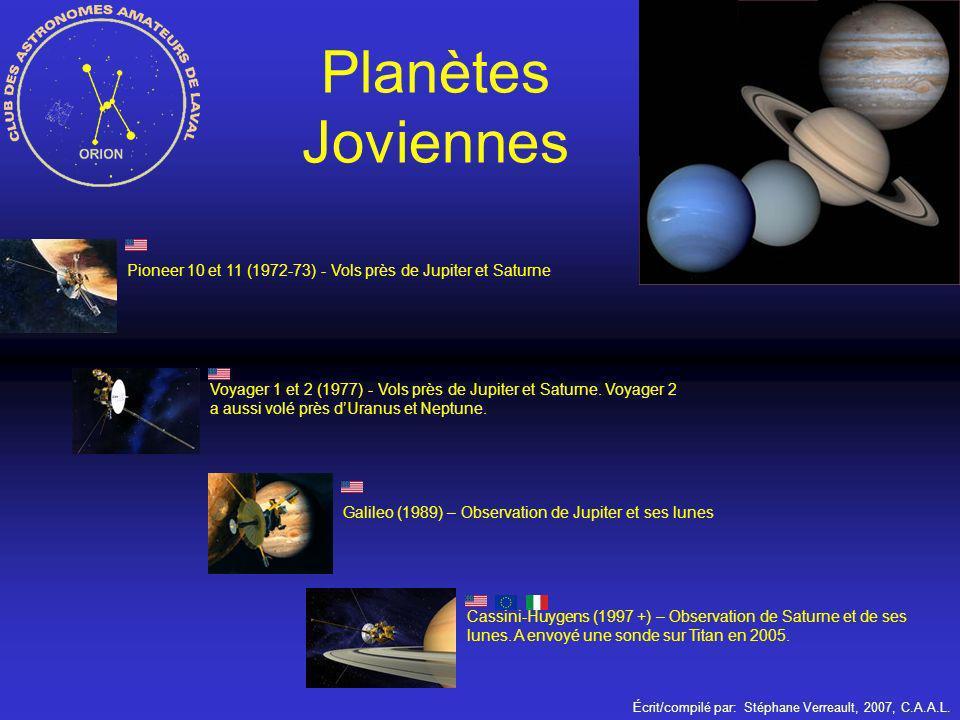 Planètes Joviennes Pioneer 10 et 11 (1972-73) - Vols près de Jupiter et Saturne.