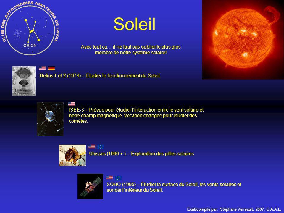 Soleil Avec tout ça… il ne faut pas oublier le plus gros membre de notre système solaire!