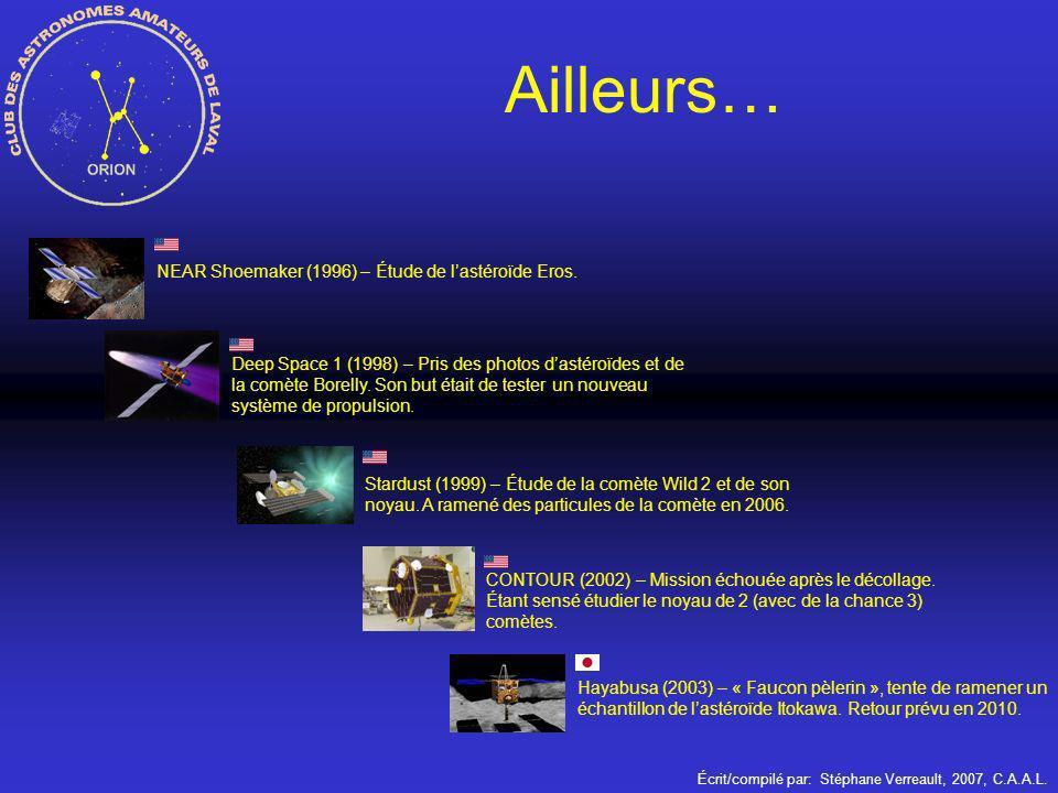 Ailleurs… NEAR Shoemaker (1996) – Étude de l'astéroïde Eros.