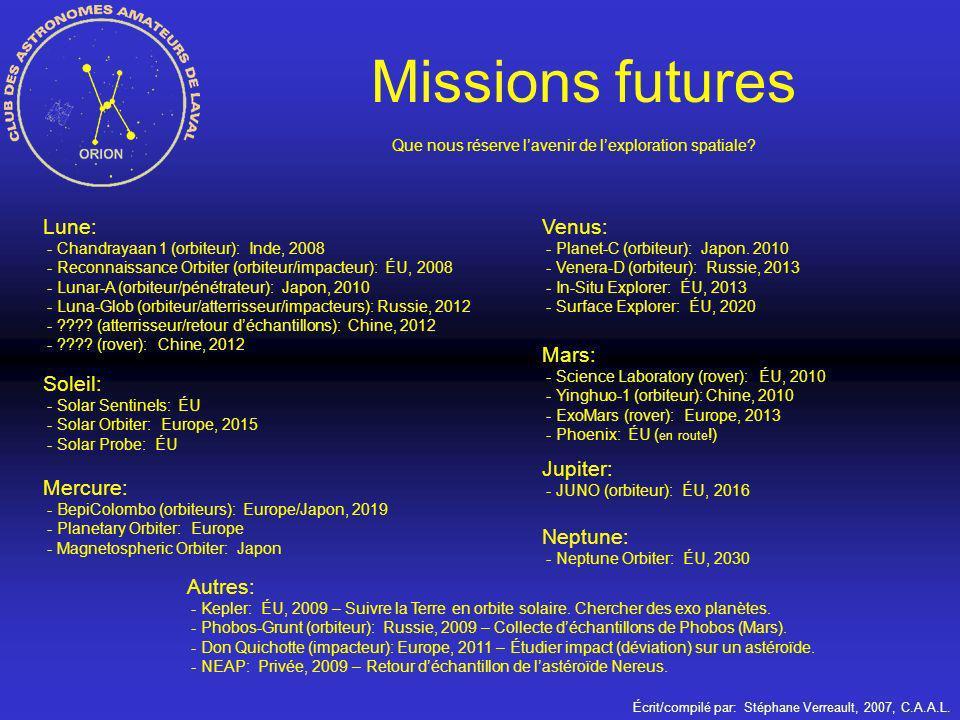 Que nous réserve l'avenir de l'exploration spatiale