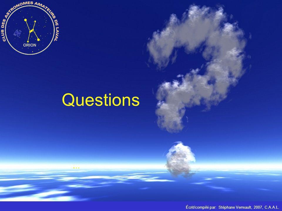 Questions ... Écrit/compilé par: Stéphane Verreault, 2007, C.A.A.L.