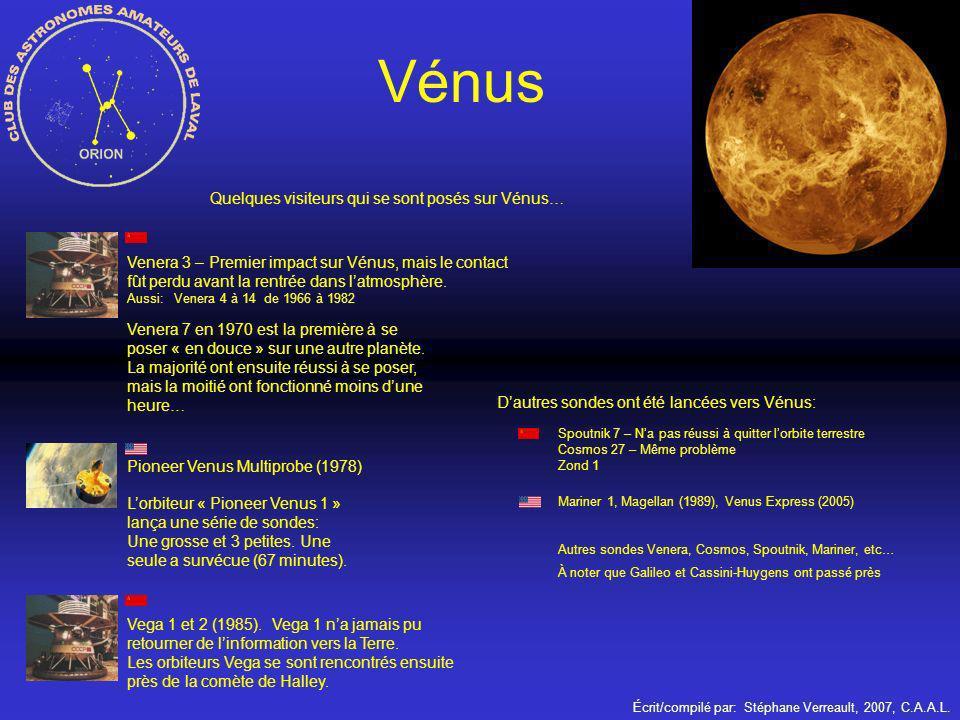 Vénus Quelques visiteurs qui se sont posés sur Vénus…