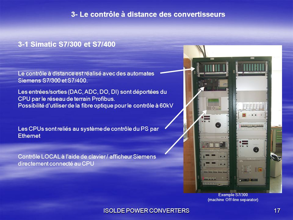 3- Le contrôle à distance des convertisseurs