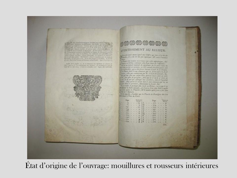 État d'origine de l'ouvrage: mouillures et rousseurs intérieures