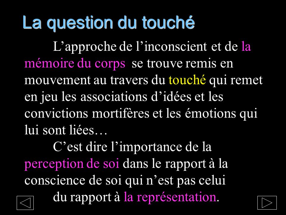 La question du touché