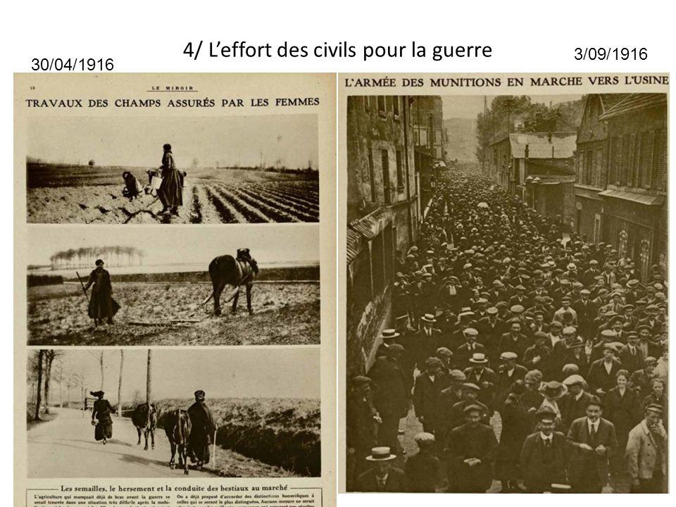 4/ L'effort des civils pour la guerre