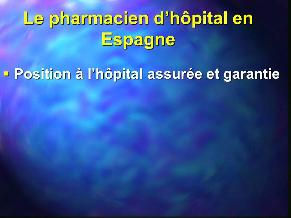 Le pharmacien d'hôpital en Espagne