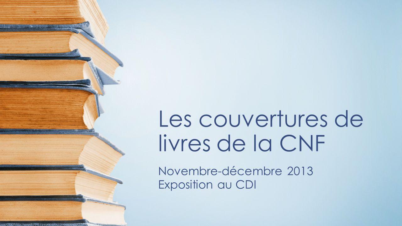 Les couvertures de livres de la CNF