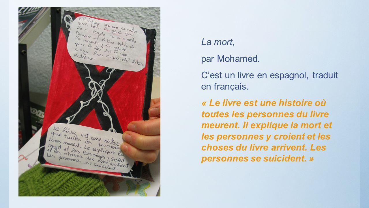 La mort,par Mohamed. C'est un livre en espagnol, traduit en français.