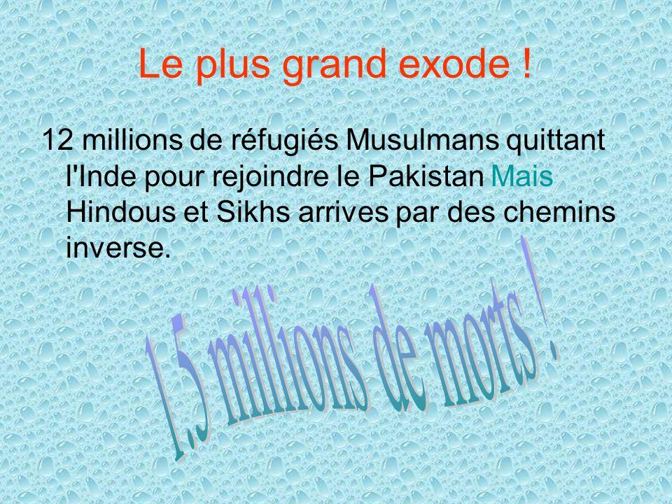 Le plus grand exode ! 1.5 millions de morts !