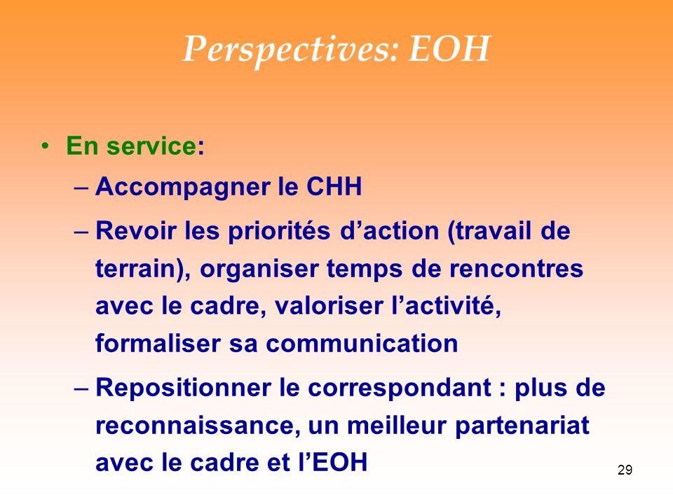 Perspectives: EOH En service: Accompagner le CHH