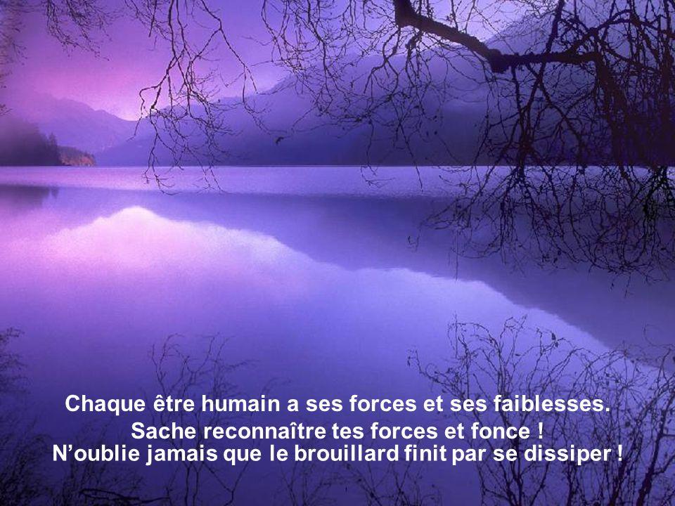 Chaque être humain a ses forces et ses faiblesses.