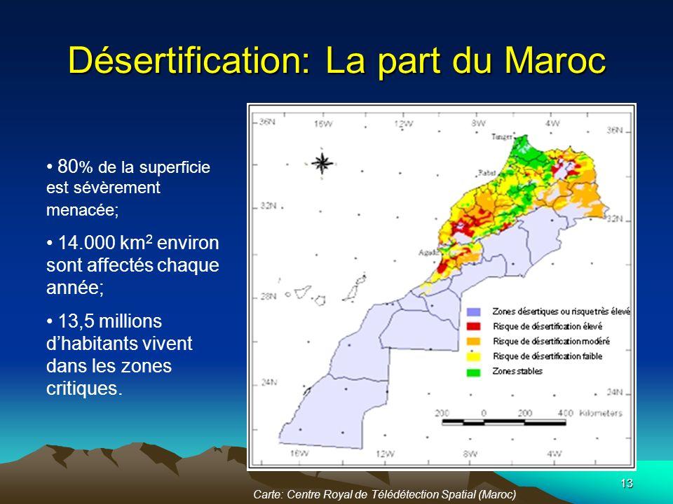 Désertification: La part du Maroc