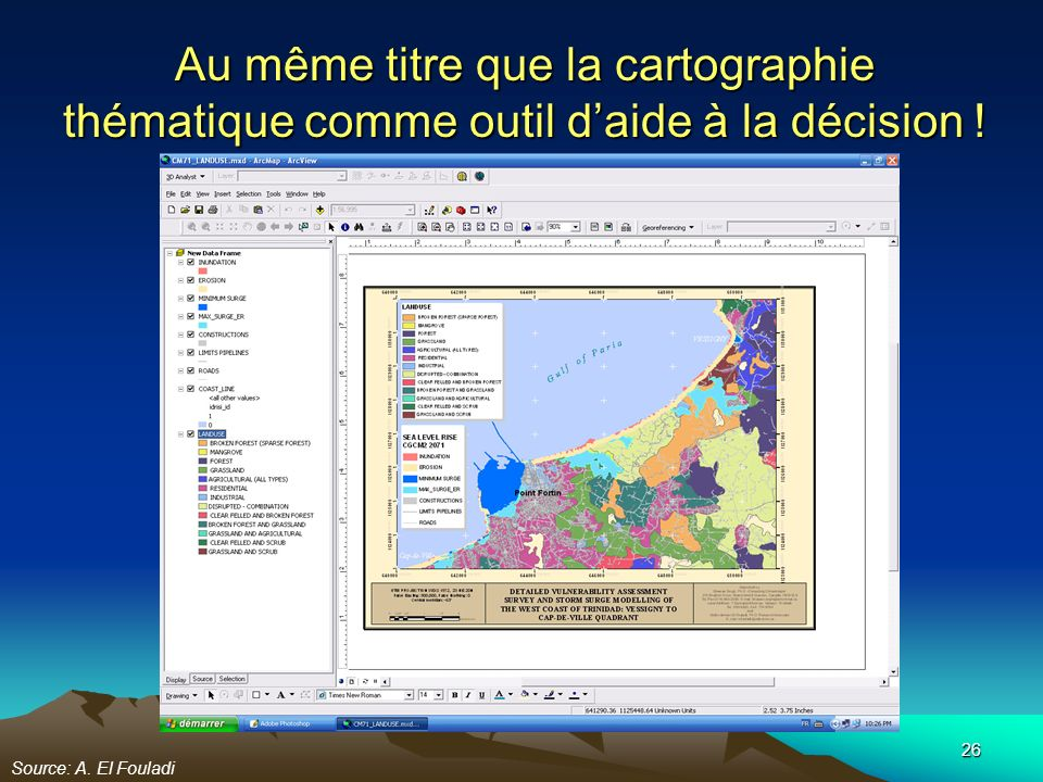 Au même titre que la cartographie thématique comme outil d'aide à la décision !