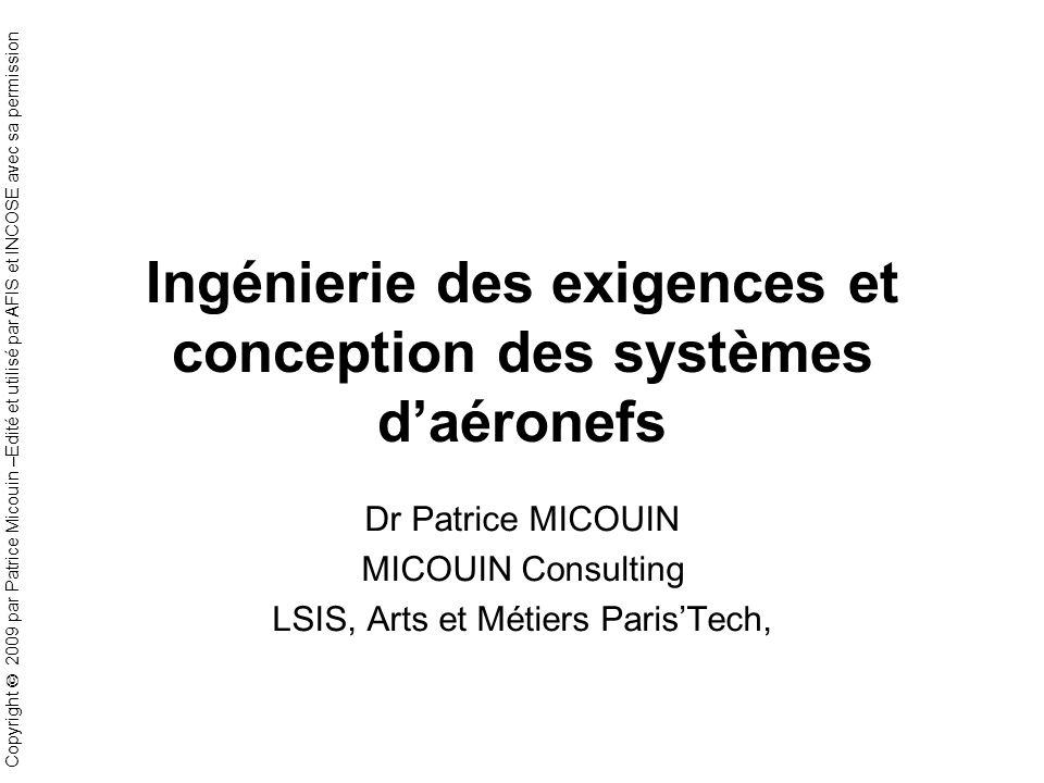 Ingénierie des exigences et conception des systèmes d'aéronefs