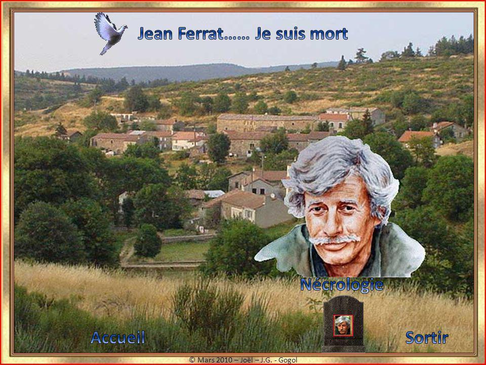 Jean Ferrat…… Je suis mort