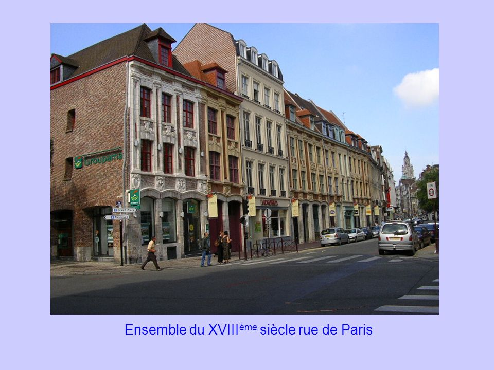 Ensemble du XVIIIème siècle rue de Paris