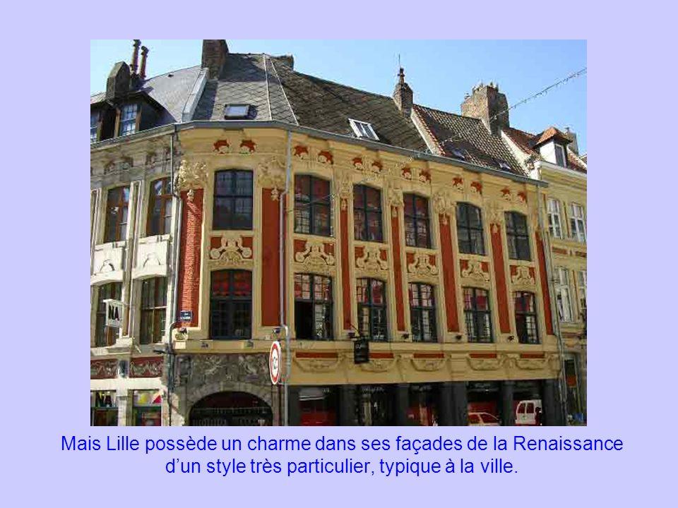 Mais Lille possède un charme dans ses façades de la Renaissance d'un style très particulier, typique à la ville.