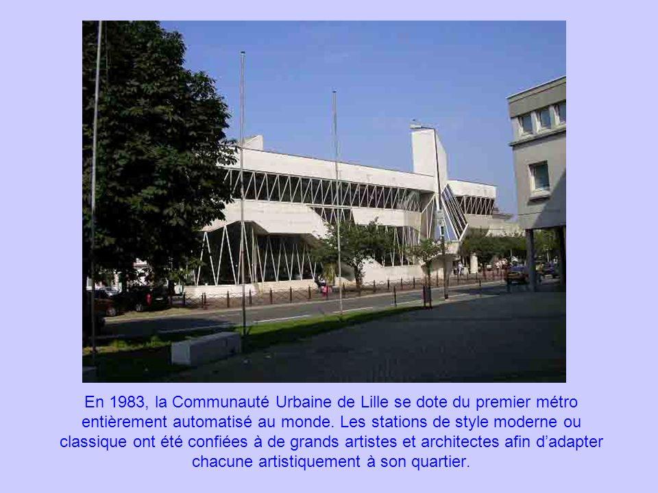 En 1983, la Communauté Urbaine de Lille se dote du premier métro entièrement automatisé au monde.